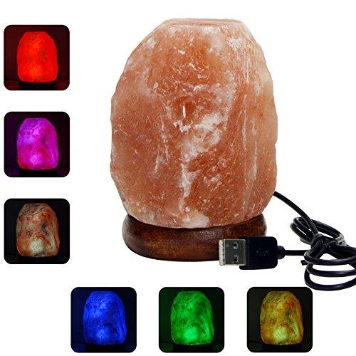 Natural Himalayan Salt Lamp - Pink Hand Carved Rock Salt Lam