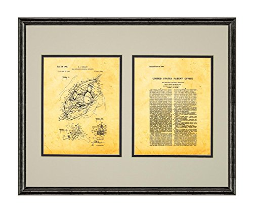 Retaining Self Retractors (Self-retaining Abdominal Retractor Patent Art Golden Look Print in a Black Wood Frame with a Double Mat (20