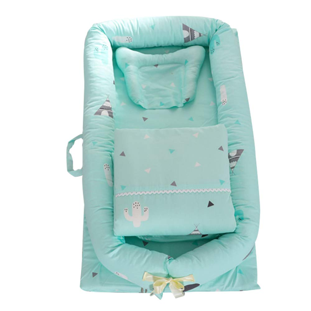 Abreeze Baby Lounger,Infant Lounger,Newborn Lounger Breathable,Hypoallergenic-Perfect for Co-Sleeping,Cotton Portable Travel Infant Bed,Crib,Bassinet,or Lion Printed Baby Nest