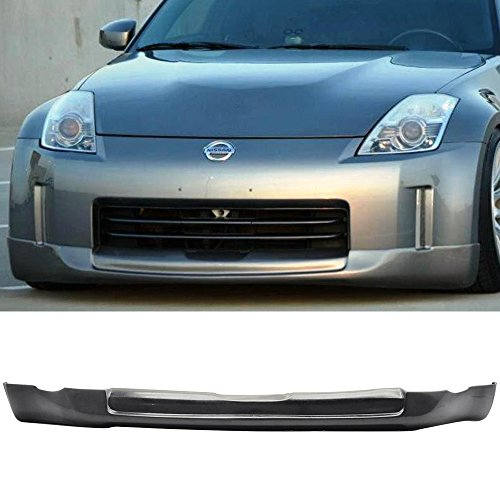 Front Bumper Lip Spoiler Fits 2006-2008 Nissan 350Z | ING-S Style Black PU Front Bumper Lip Spoiler Bodykit Splitter Diffuser Air Dam Chin Diffuser by IKON MOTORSPORTS | 2007