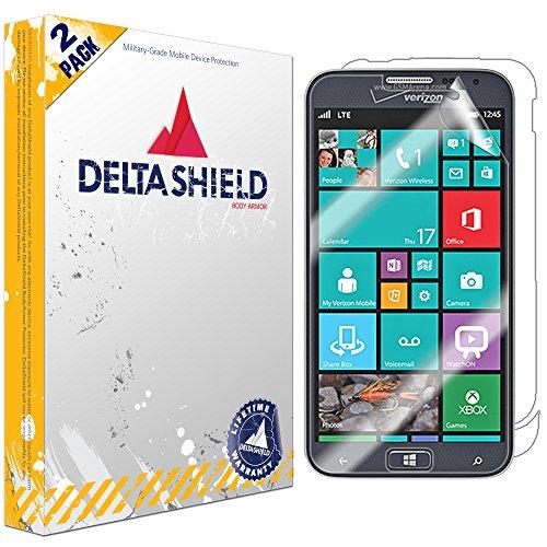 DeltaShield Full Body Skin for Samsung ATIV SE (2-Pack)(Screen Protector Included) Front and Back Protector BodyArmor Non-Bubble Military-Grade Clear HD Film (Se Orange Case Samsung Ativ)