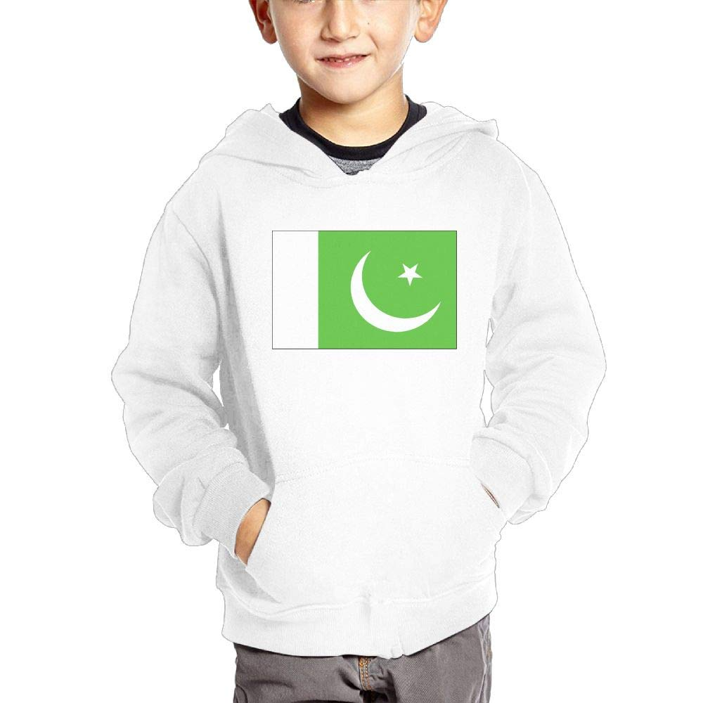 JIANGSHAN Pakistani Flag Comfortable Hooded Pocket Sweater for Children Spring//Autumn//Winter Outfit Long-Sleeved Hoodie