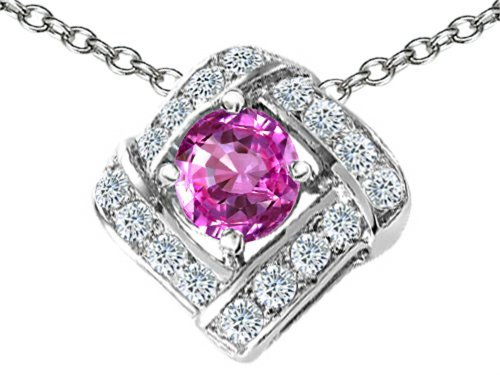 star-k-round-created-pink-sapphire-pendant-necklace-sterling-silver