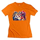 Female The Vision Of Escaflowne Customized 100% Cotton Orange T-Shirt By Mjensen