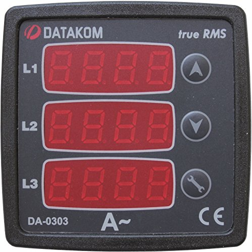 DATAKOM DA-0303 Digital Ammeter Panel (3 Phase), 170-275V power supply ()