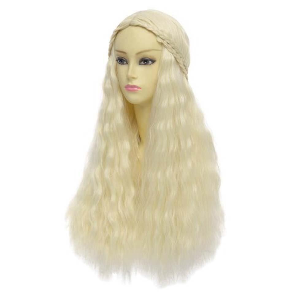 Diseño de personajes de manga larga Etruke Daenerys del juego de trono de Juego de Tronos Targaryen khaleesi de ratón de las pelucas: Amazon.es: Belleza