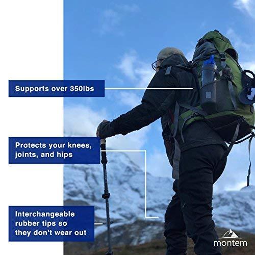 Montem Ultra Strong Hiking/Walking/Trekking Poles - One Pair (2 Poles) (Yellow)