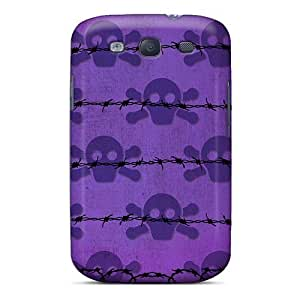 Tough Galaxy UMkNNKH7484oSzUY Case Cover/ Case For Galaxy S3(i4 Skulls Purple)