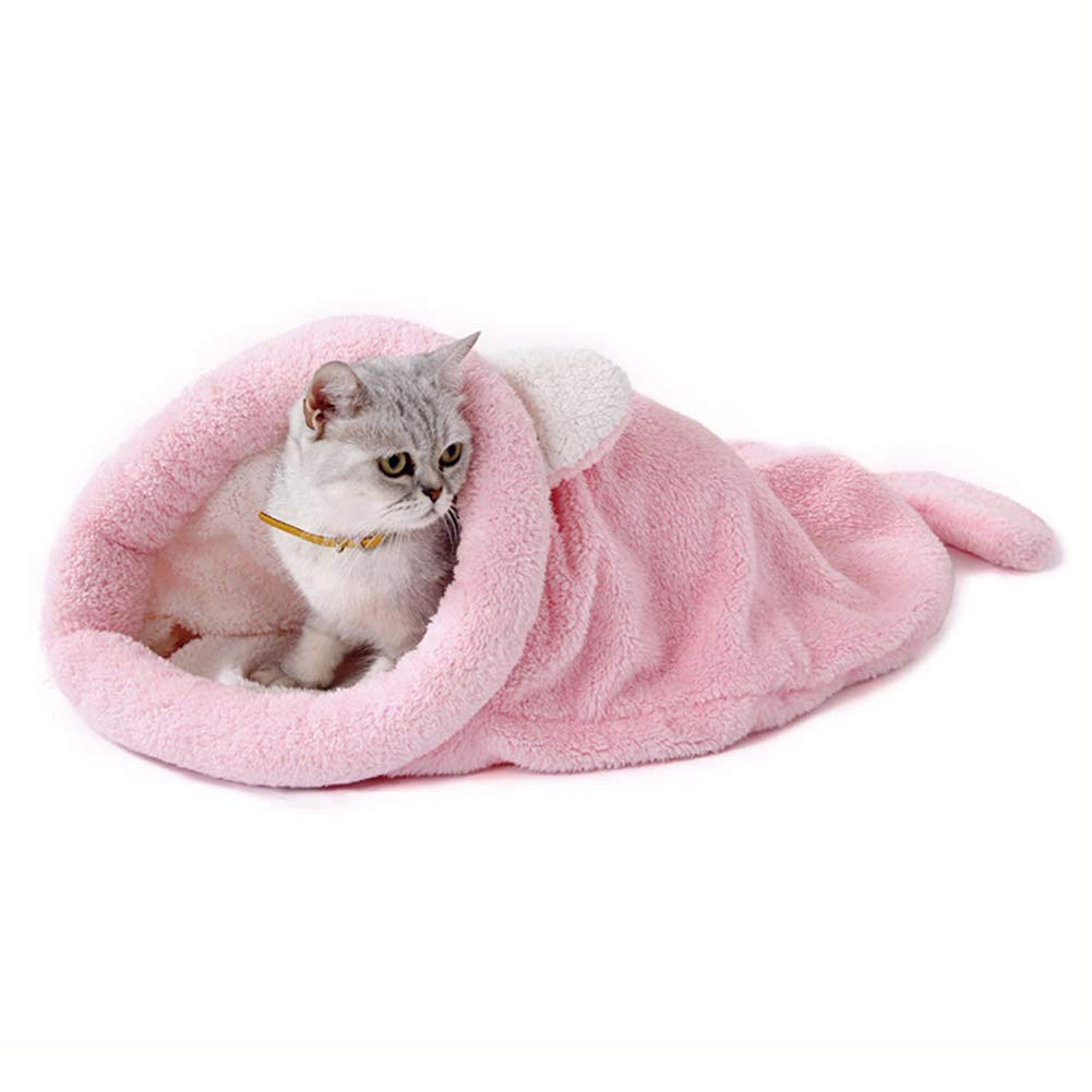 A Medium A Medium Sleeping Bag Cute Pet Cat Soft Fleece Small Dog Beds Winter Warm Cat Bed House
