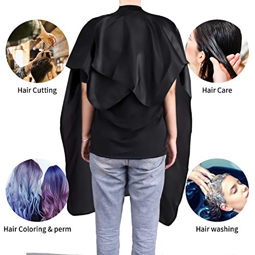 Easy4U Professional Barber Cape for Men & Women, Waterproof Hair Cutting Cape for Hair Stylist, 35.5\