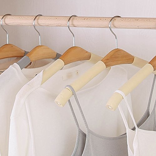 LIANGJUN Clothes Pants Hangers Wooden Non-slip Multifunction