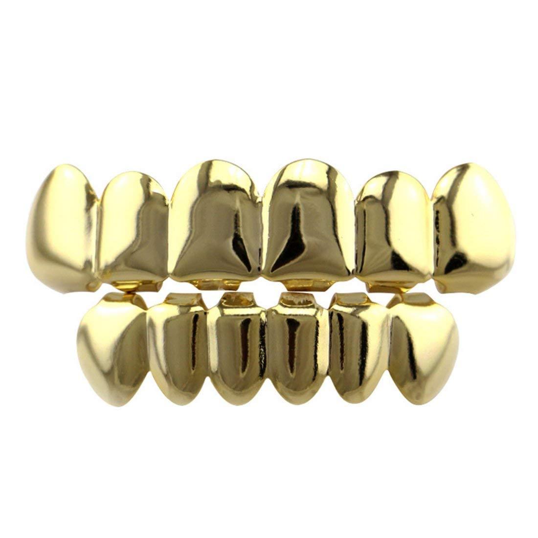 Los dientes de Hiphop fijan los dientes planos lisos los apoyos superiores e inferiores de la joyería del cuerpo Halloween Cosplay Party Gift Formulaone