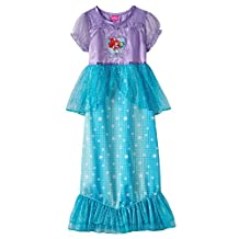 Disney Big Girls' Little Mermaid Ariel Dress-Up Nightgown Multi