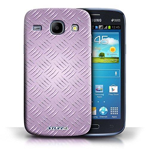 Kobalt® Imprimé Etui / Coque pour Samsung Galaxy Core / Rose conception / Série Motif en Métal en Relief