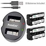Kastar Battery (X2) & Dual USB Charger for Sony NP-F570 NP-F550 NP-F330 and CCD-RV100 RV200 SC5 SC9 TR1 TR215 TR940 TR917 Camera, CN-126 CN-160 CN-216 CN-304 VL600 YN 300 LED Video Light