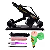 BFY Supermatic Love Sex Machine for Men and Women,Thrusting speed Adjustable,Machinegun Fast Thrust Masturbation Toy, A Variety of Accessories for User (Type-G, Black)