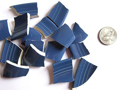 Mosaic Eye (50 Blue Mosaic Tiles, Broken China Mosaic Pieces, Ceramic Mosaic Tiles, Mosaic Art Supplies, Tile Mosaic Supply, Mosaic Craft Tiles, Broken Dish Pieces)