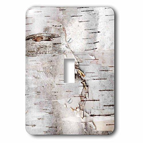 One Light Bark (3dRose (LSP_266462_1 Single Toggle Switch Birch Bark Photo Nature Tree Photography)