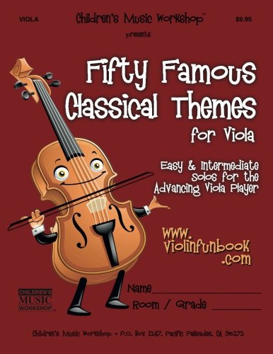 Read Online Fifty Famous Classical Themes for Viola: Easy and Intermediate Solos for the Advancing Viola Player pdf epub