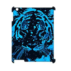 DIY Phone Case with Hard Shell Protection for Ipad2,3,4 3D case with Tiger Painting lxa850077