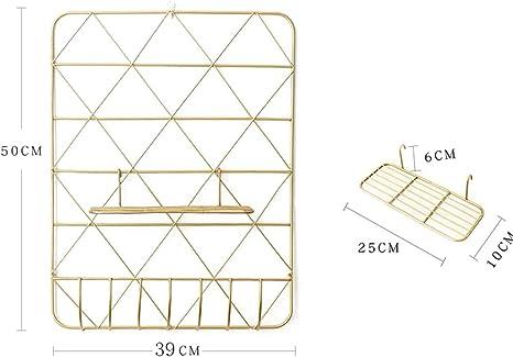 Portafoto per Camera da Letto Moderna Organizzatore di Display per LArte della Moda da Parete Zebroau Pannello Griglia 20.08 x 15.35 Pollici (Oro)