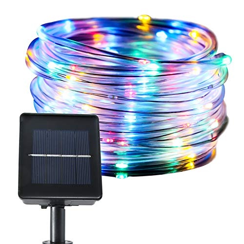 jar-owl Solar String Lights Waterproof Copper Wire Tube Lights 33 Feet 100LED 8-in-1 Mode for Outdoor Indoor Home Garden Patio Parties - Multicolor (Owl Patio Lights)
