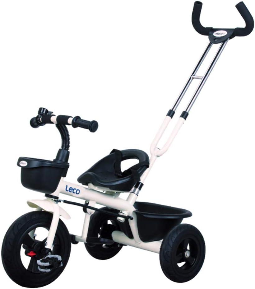 TH Triciclo para Niños Triciclo Baby con Barra De Mango De Empuje Extraíble 2-5 Años 85-125cm