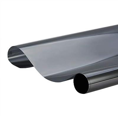 ATMOMO 15% VLT 2MiL Black Window Tint Film Privacy Window Film Sun, Glare and UV Rays Protection Film for Car Home Office Glass 0.5Mx3M: Automotive
