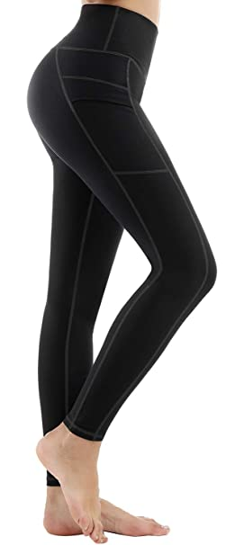 Life Sky Yoga Pants For Women With Pockets High Waist Tummy Control Leggings 4 Way Stretch Soft Athletic Pants by Life Sky