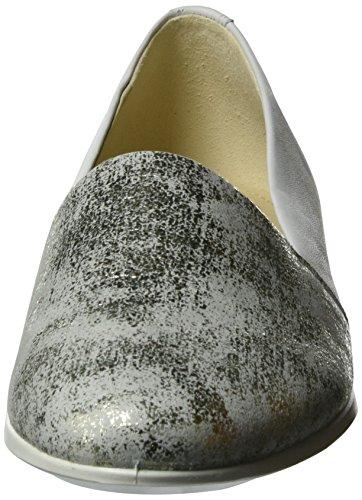 0 58498gravel Donna Ballerina Touch white 2 Ecco Silber z4wtYp