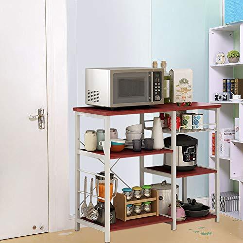 Iuhan  Kitchen Baker's Rack Utility Storage Shelf, 3-Tier Kitchen Baker's Rack Utility Microwave Oven Stand Storage Cart Workstation Shelf Stand Organizer by Iuhan  (Image #4)