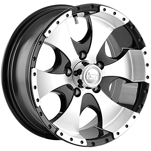 Ion Alloy 136 Black Machined Wheel (15x6