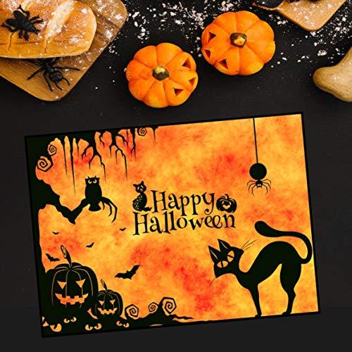 Black Cat For Halloween Printables (Silver8847 Happy Halloween Card Halloween Card Printable Halloween Card Happy Halloween Sign Halloween Greetings Card Halloween Black)