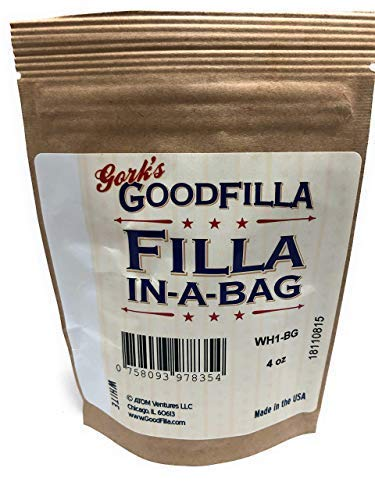 Wood Filler & Putty Powder - Innovative Powder Formula - Filla-in-A-Bag -  White - 4 oz by Goodfilla | Repairs, Finishes & Patches | Paintable,