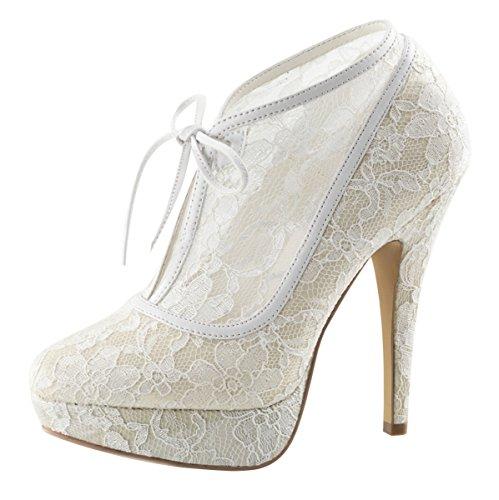 Heels-Perfect - Zapatos de vestir de Material Sintético para mujer Blanco - Elfenbein (weiss)