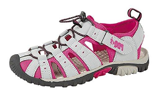 Grey fuschia Plage Pdq Summer Sandales Rouge Sports Femmes Velcro De CxxwvqO8S