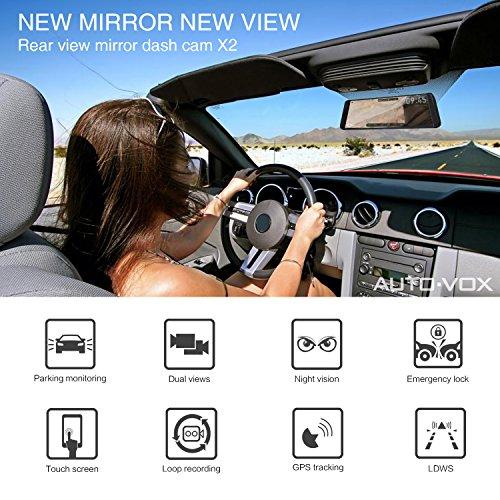 auto vox x2 mirror dash cam with streaming media. Black Bedroom Furniture Sets. Home Design Ideas