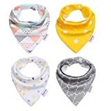 Storeofbaby Baby Bandana Drool Bibs for Boys Girls Gifts Set , Super Absorbent 100% Cotton ,Fits Newborn Infant Toddler ( Pack of 4 )