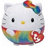 Ty Beanie Ballz Hello Kitty Rainbow Medium Plush