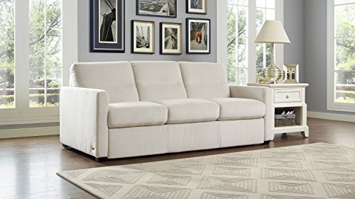 Natuzzi Galileo Fabric Queen Sofa Sleeper, Cream Maestrale 68.0036.01