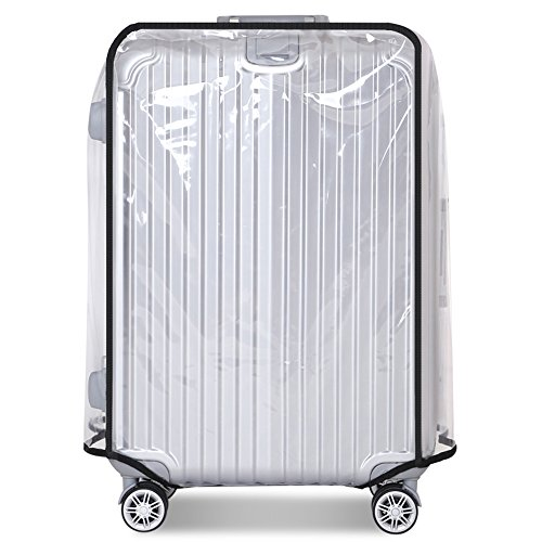 Luggage Cover 20 Inch Suitcase Cover Rolling Luggage Cover Protector Clear PVC Suitcase Cover for Carry on Luggage