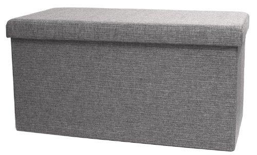 Vencer Classics Foldable Storage Cube/Ottoman,Grey 30''X15''X15''