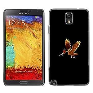 A-type Arte & diseño plástico duro Fundas Cover Cubre Hard Case Cover para Samsung Note 3 N9000 (Meter mosnter Red Phoenix)