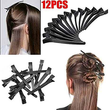Buy Majik Section Clips For Hair For Women And Girls Black Color