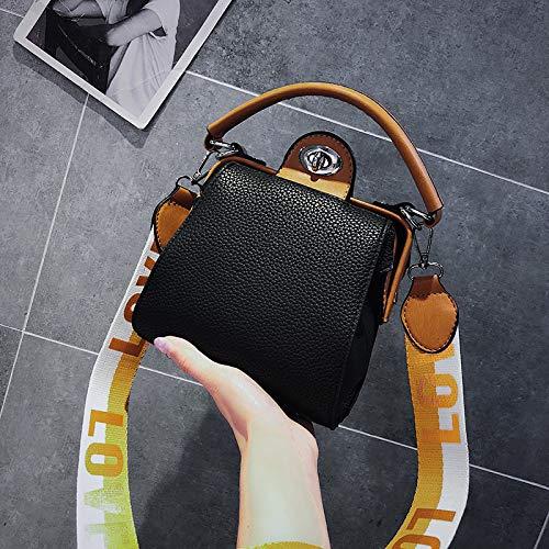 Vent Messenger Sac Version Sac Main marée à Port du Femme Bande Mode WSLMHH Large Sauvage coréenne Sac épaule Noir rétro BwZ6xfqp