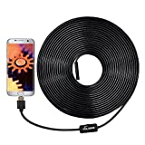 USB Endoscope, VOLADOR 2 Million Pixels 720P USB Borescope Camera, 33ft 3 in1 HD Endoscope Inspection Camera for OTG Android Phones Computers Tablets, Waterproof Snake Camera
