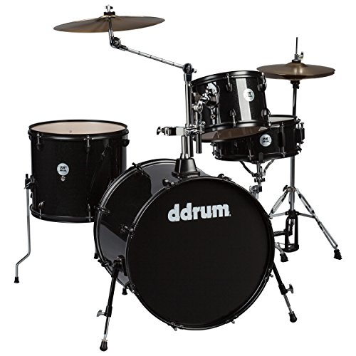 ddrum D2 Rock Series Complete Drum Set with Cymbals, Black Sparkle