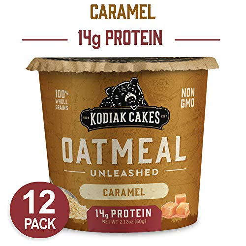 Instant Caramel - Kodiak Cakes Instant Protein Caramel Oatmeal in a Cup, 2.12 Ounce (Pack of 12)