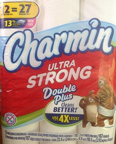 Charmin Ultra Strong Double Plus 12 Rolls Bathroom Tissue