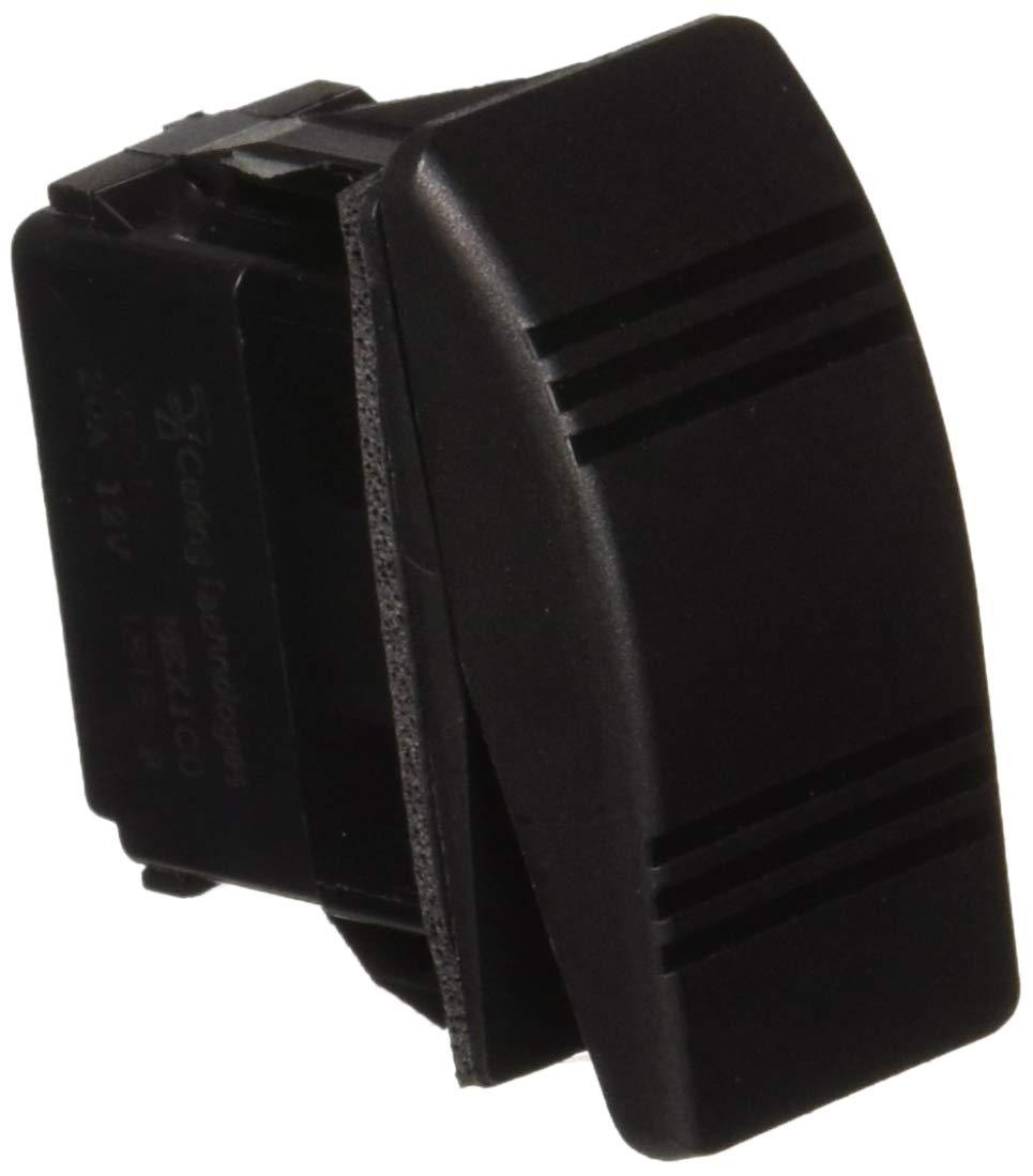 Sierra International RK19690 One Paddle Weather Resistant On-Off-On SPDT Contura III Rocker Switch with Gasket Black